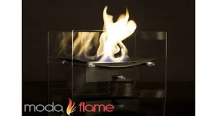 moda flame cavo table top bio ethanol fireplace youtube