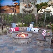 Backyard Stone Fire Pit by 9 Sizzling Stone Fire Pit Designs For Your Home U0027s Outdoor
