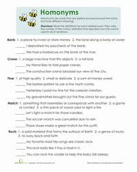 multiple meaning words worksheet education com