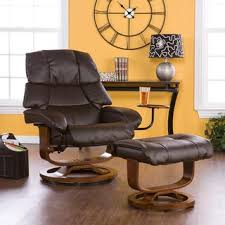 Brown Leather Chair With Ottoman Harper Blvd Francis Taupe Leather Recliner And Ottoman Free