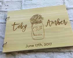 engravable wedding guest book engraved guest book etsy