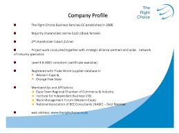 Executive Resume Template Doc Company Profile Template Doc