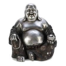silver buddha statue happy buddha garden statues happy sitting