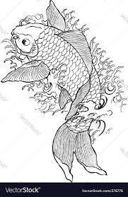 hand drawn koi fish royalty free vector image vectorstock