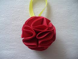 diy christmas tree ornament foam paper flower ball bead u0026cord