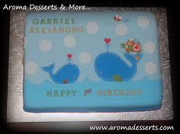 aroma desserts and more ahoy 1st birthday cake whales and