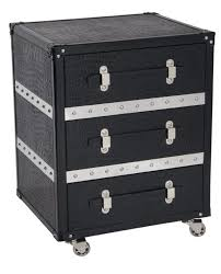 trunk style side table sutton bedside table or side table trunk furniture with style