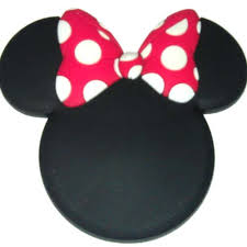wdw store disney magnet mickey mouse icon minnie mouse bow
