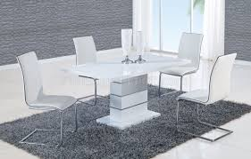 White Furniture Dining Sets D470dt Dining Set 5pc W 490dc White Chairs By Global Furniture