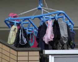 可愛い下着の洗濯物画像掲示板 若い素人妻が暮らすベランダに干された洗濯物のブラやパンティー