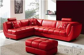 used red leather sofa excellent red modern sofa and louella cherry leather sectional for