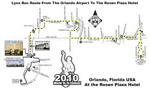 International Drive Orlando Map by 2010 World Yo Yo Contest