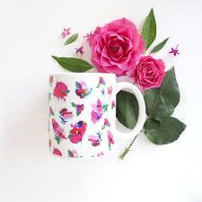 floral coffee mug u2013 ashley brooke designs