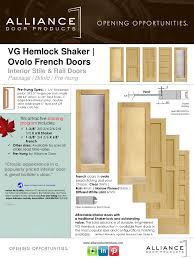 Narrow Doors Interior by Vg Hemlock Shaker French Stile U0026 Rail Interior Door