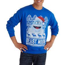 beast mode men u0027s ugly christmas sweater walmart com