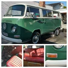 volkswagen green 1972 volkswagen kombi green and white red upholstery 1641cc