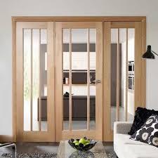 oak easi frame room divider doors system single worcester clear