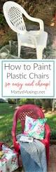 Paint For Outdoor Plastic Furniture by How To Spray Paint Plastic Chairs An Easy Makeover Painting