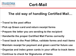 certified mail and electronic returned receipt quit the labels and u2026