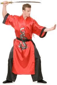 Halloween Japanese Costumes Red Samurai Ninja Costume Costumes