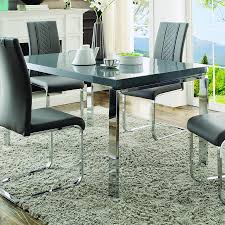 homelegance miami 5 piece rectangular dining room set in high