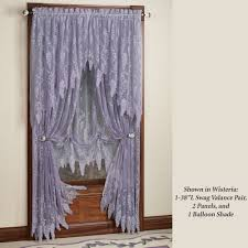 How To Hang Curtain Swags by Wisteria Arbor Lace Valances And Curtain Panels