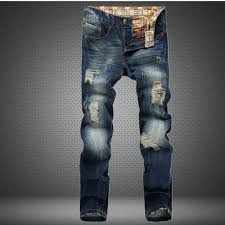 Ripped Denim Jeans For Men Compare Prices On Repair Ripped Jeans Online Shopping Buy Low