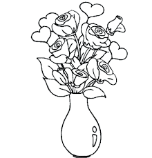 pin drawn vase full flower 96 enchanting coloring page pictures