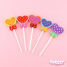 heart lollipop kawaii heart lollipop eraser blippo kawaii shop