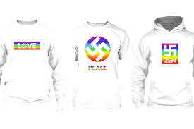 this company released a line of shirts with rainbow swastikas and
