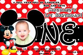 mickey mouse birthday invitations blueklip com