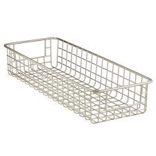 Baskets For Kitchen Cabinets Amazon Com Interdesign Classico Wire Storage Basket With Handles