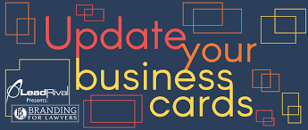 Lawyers Business Cards For Lawyers Update Your Business Cards