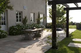 Simple Patio Ideas by Decorative Simple Patio Designs With Pavers With Dark Wood Pergola