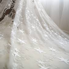 wedding backdrop tulle beautiful white embroidered mesh lace fabric tulle