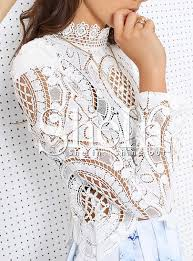 white lace blouses white sleeve hollow lace blouse 4805 3 jpg