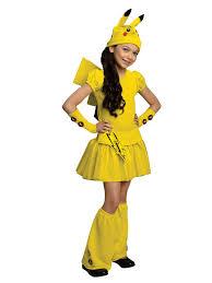 Halloween Costume Kid Childs Pikachu Costume Girls Pokemon Halloween Costumes