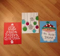 christmas canvases dorm crafts for your or your roommates