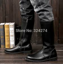 men s tall motorcycle riding boots 2015 spring autumn elevator male boots tall riding boots denim boots