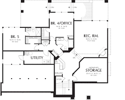 contemporary style house plan 5 beds 5 50 baths 4882 sq ft plan