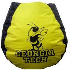 georgia tech yellow jackets bean bag chair walmart com