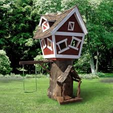 daniels wood land scallywag sloop outdoor wood tree playhouse