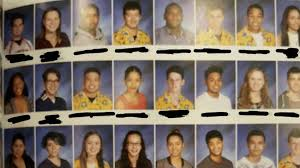 year book students pull colorful yearbook prank using identical hawaiian shirts