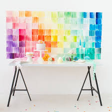 diy photo backdrop cheerful diy watercolor paper squares wedding backdrop weddingomania