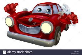 wrecked car clipart cartoon car auto repair garage mechanic character holding a wrench