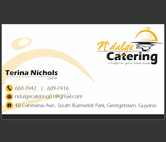 Catering Calling Card Design Four Degrees Ict Consultancy Work We Did