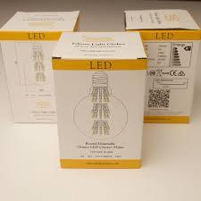 3 watt vintage led e27 clear 95mm round bulb