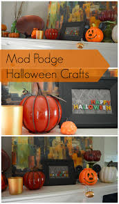 Minecraft Pumpkin Carving Mod by Mod Podge Halloween Crafts My Big Fat Happy Life