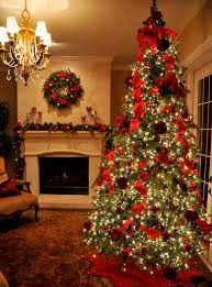 collection real decorated christmas tree pictures home design