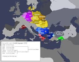 Language Map Of Europe by Map The Word For U0027water U0027 In The Kodidz Languages Of Prehistoric